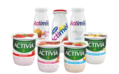 50p off Actimel & Activia throughout October