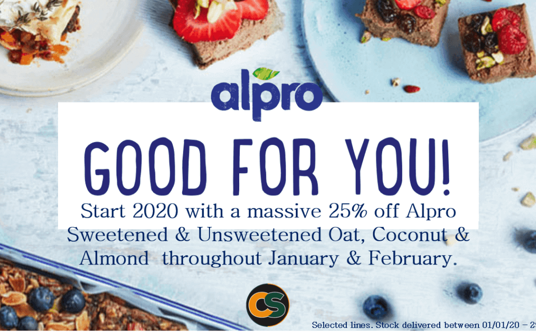 25% off Alpro…Happy New Year!